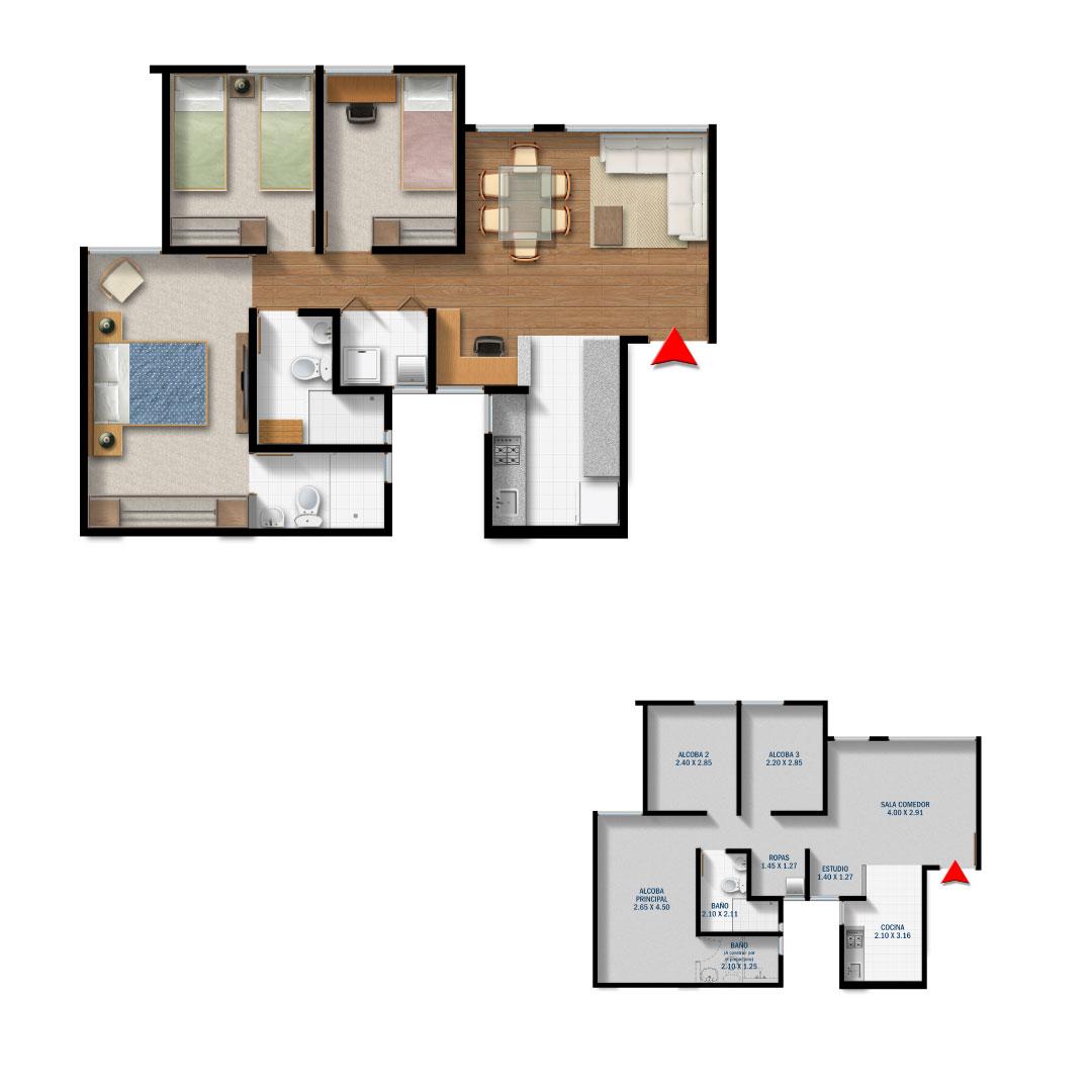 63.35 m2